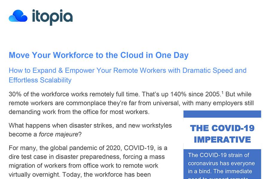 itopia White Paper - Remote Worker Preparedness
